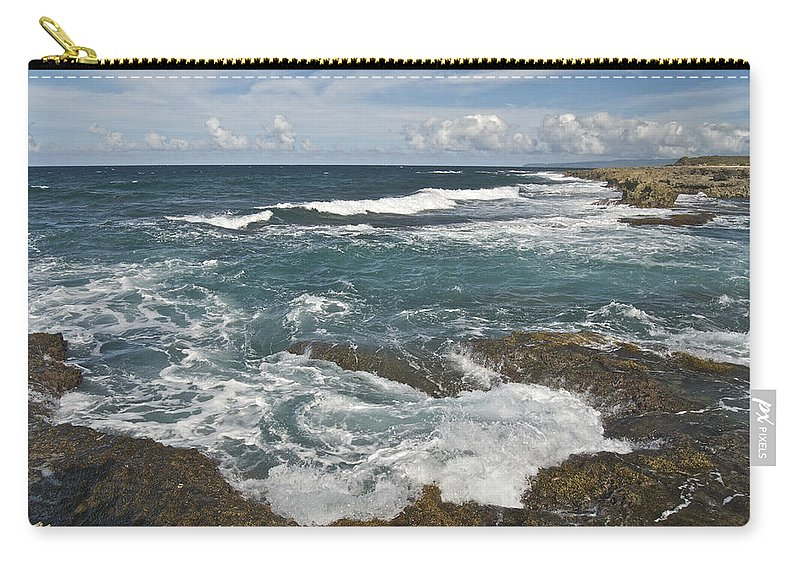 Abstract Carry-all Pouch featuring the photograph Breaking Waves 7919 by Michael Peychich