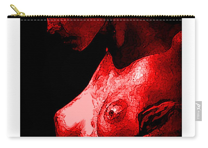 Fine Art Carry-all Pouch featuring the painting Breast In Color by Thomas Oliver