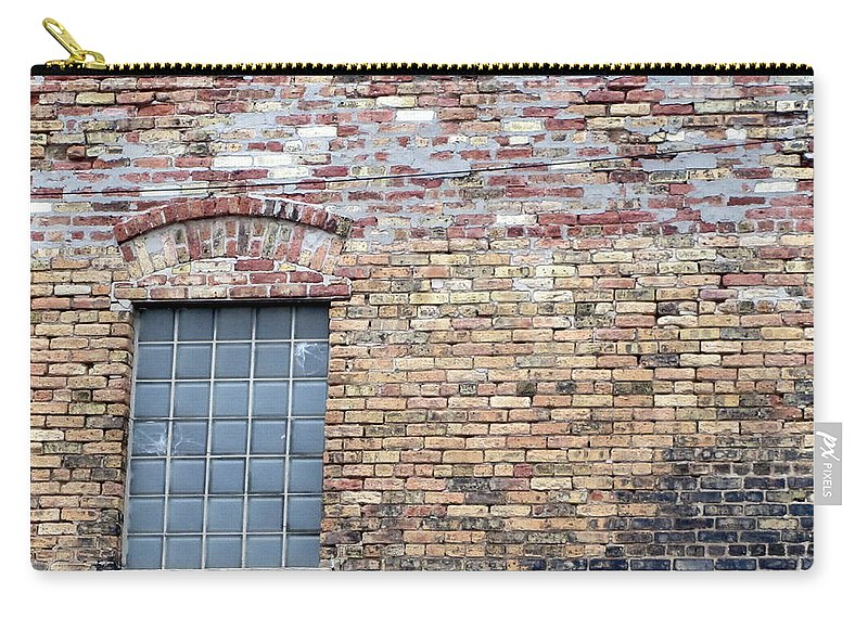 Milwaukee Carry-all Pouch featuring the photograph Brick Wall Window by Anita Burgermeister