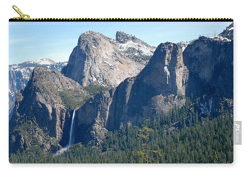 Yosemite National Park Carry-all Pouch featuring the photograph Bridalveil by Eric Tressler
