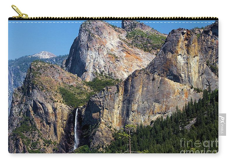 Yosemite National Park Carry-all Pouch featuring the photograph Bride At Yosemite by Adam Jewell