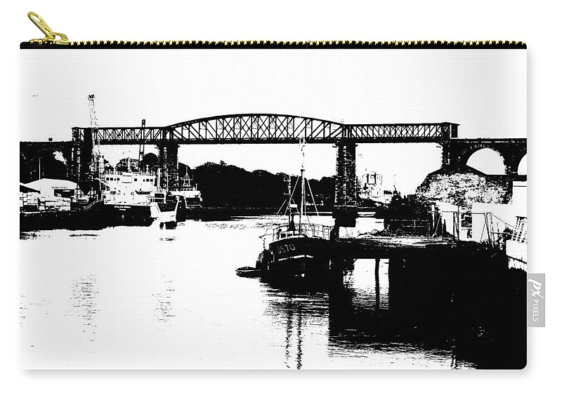 Drogheda Carry-all Pouch featuring the photograph Bridge On The Boyne by Charlie and Norma Brock
