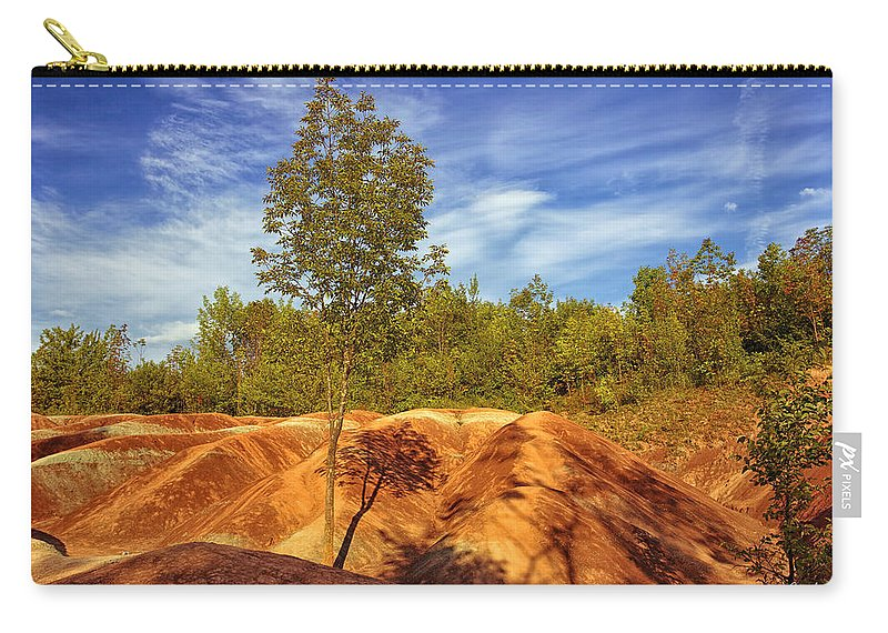 Caledon Ontario Carry-all Pouch featuring the photograph Bright Light On The Badlands by Phill Doherty