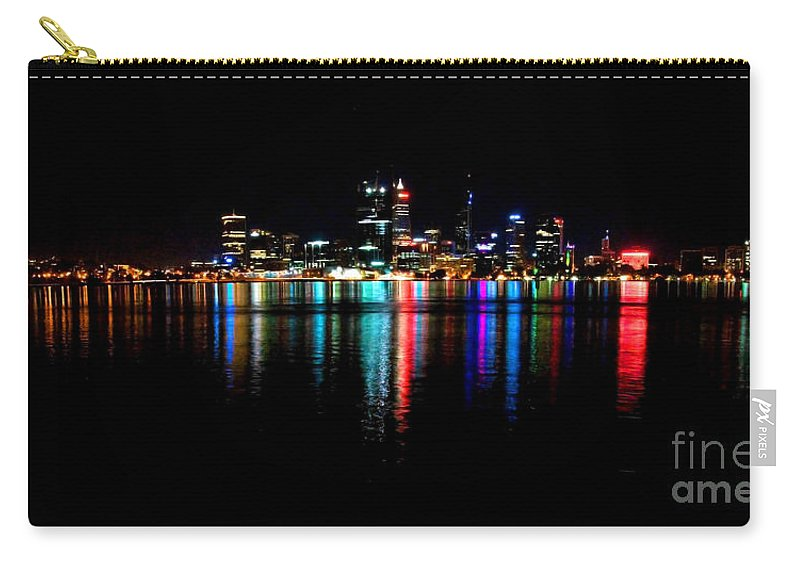Perth Carry-all Pouch featuring the photograph Bright Lights Big City by Rob Hawkins