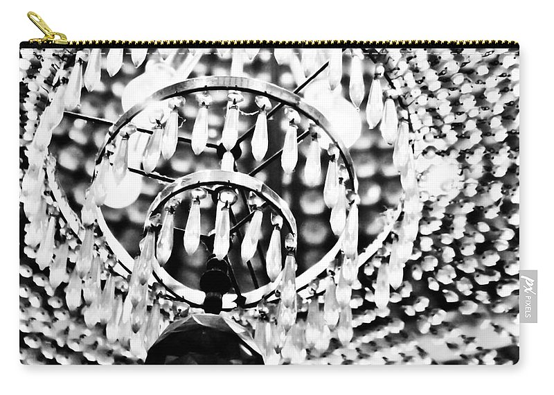 Chandelier Carry-all Pouch featuring the mixed media Bright Lights In The City by Kim Henderson