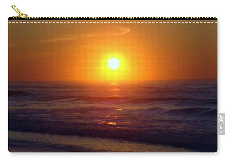 Sunrise Carry-all Pouch featuring the photograph Brilliant Gold by Art Dingo