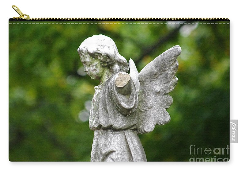 Cemetery Carry-all Pouch featuring the photograph Broken Angel by J M Lister
