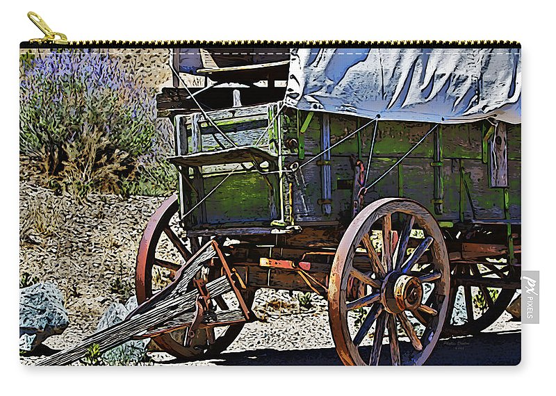 Wagon Carry-all Pouch featuring the photograph Broken Down by Phyllis Denton