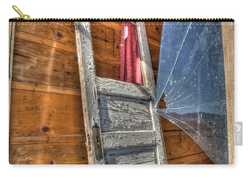 Architecture Carry-all Pouch featuring the photograph Broken Window by Peter Tellone