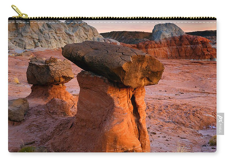 Hoodoo Carry-all Pouch featuring the photograph Brokentop Hoodoo Sunset by Mike Dawson