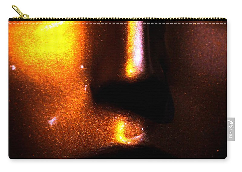 Face Carry-all Pouch featuring the photograph Bronze Likeness by Marie Jamieson