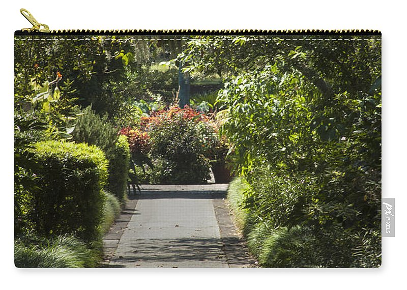 Garden Carry-all Pouch featuring the photograph Brookgreen Gardens Path by Darleen Stry