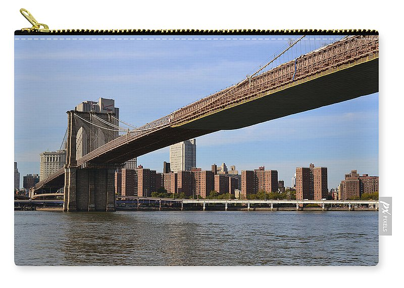 Brooklyn Carry-all Pouch featuring the photograph Brooklyn Bridge1 by Zawhaus Photography