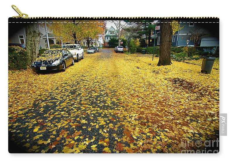 Fall Leaves Carry-all Pouch featuring the photograph Brooklyn New York by Mark Gilman