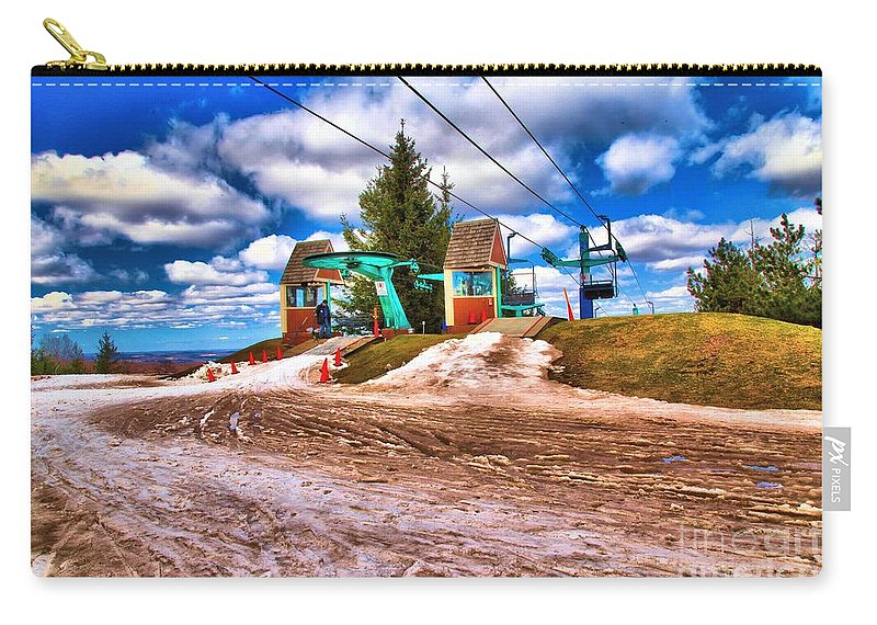 Skiing Carry-all Pouch featuring the photograph Brown Spring by Adam Jewell
