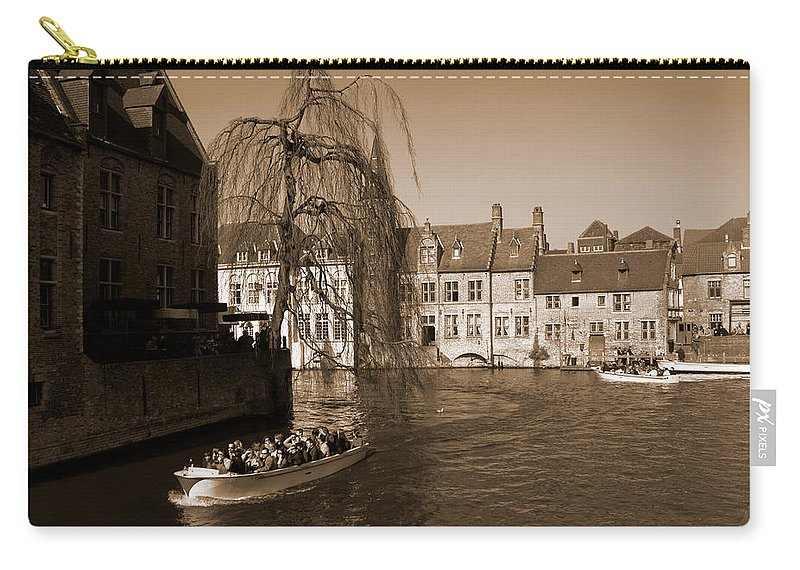 Bruges Carry-all Pouch featuring the photograph Bruges Canal by Donato Iannuzzi
