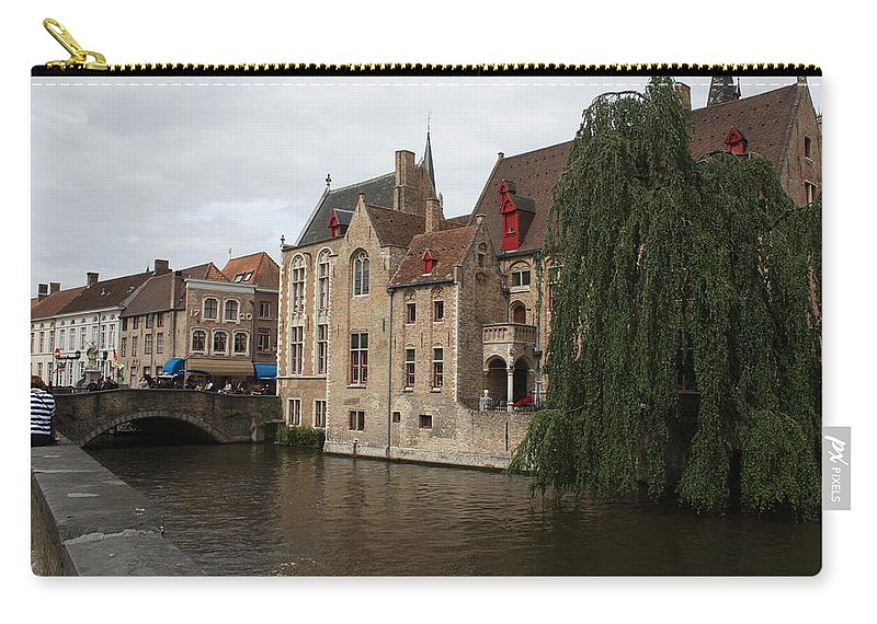 Brugge Carry-all Pouch featuring the photograph Brugge by Donna Walsh