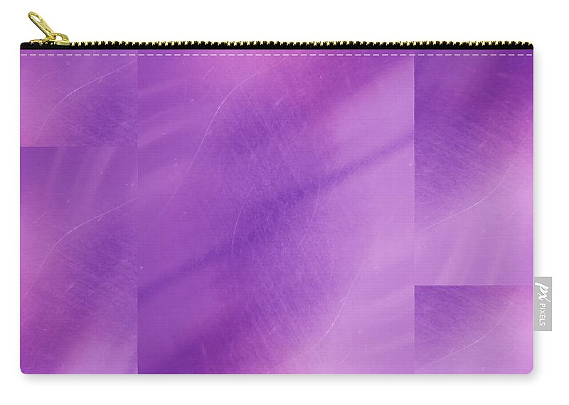 Abstract Carry-all Pouch featuring the digital art Brushed Purple Violet 1 by Tim Allen