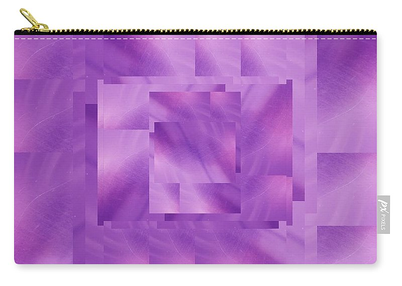 Abstract Carry-all Pouch featuring the digital art Brushed Purple Violet 10 by Tim Allen