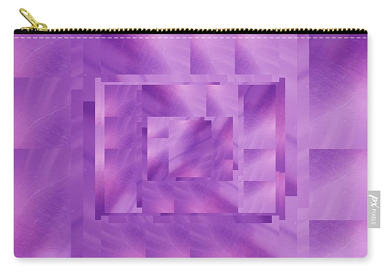Abstract Carry-all Pouch featuring the digital art Brushed Purple Violet 11 by Tim Allen