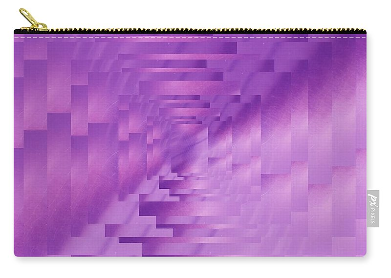 Abstract Carry-all Pouch featuring the digital art Brushed Purple Violet 9 by Tim Allen