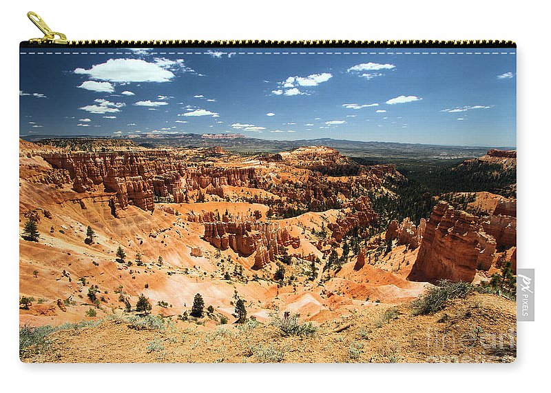 Hoodoos Carry-all Pouch featuring the photograph Bryce Canyon Amphitheater by Adam Jewell