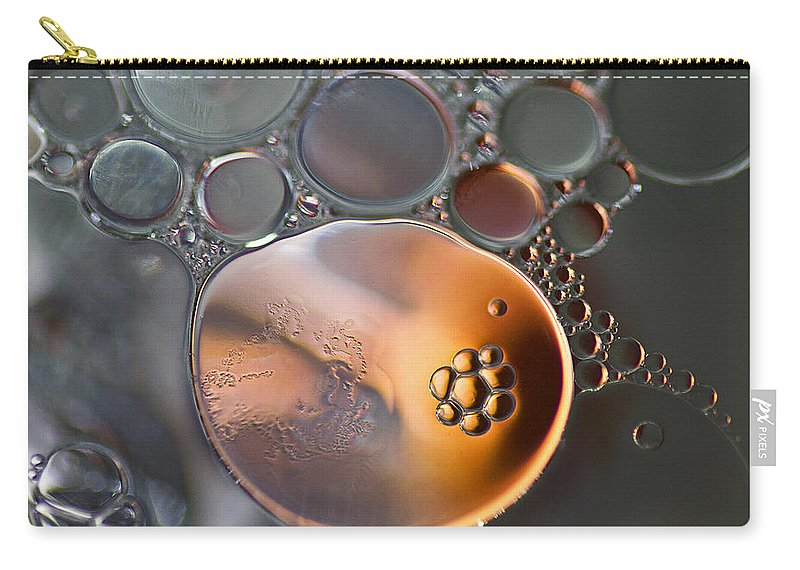 Bubbles Carry-all Pouch featuring the photograph Bubbles V by David Pringle