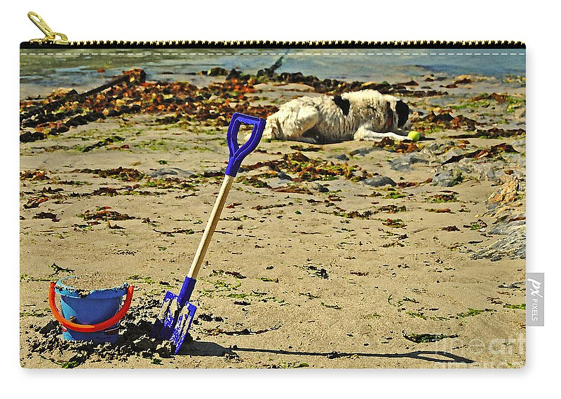 Bucket Carry-all Pouch featuring the photograph Bucket And Spade by Rob Hawkins