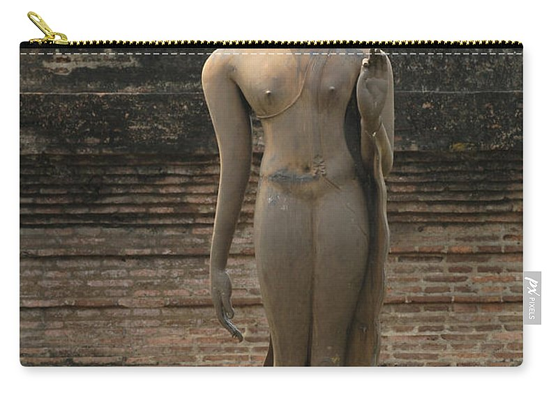 Sukhothai Carry-all Pouch featuring the photograph Buddha At Sukhothai 3 by Bob Christopher