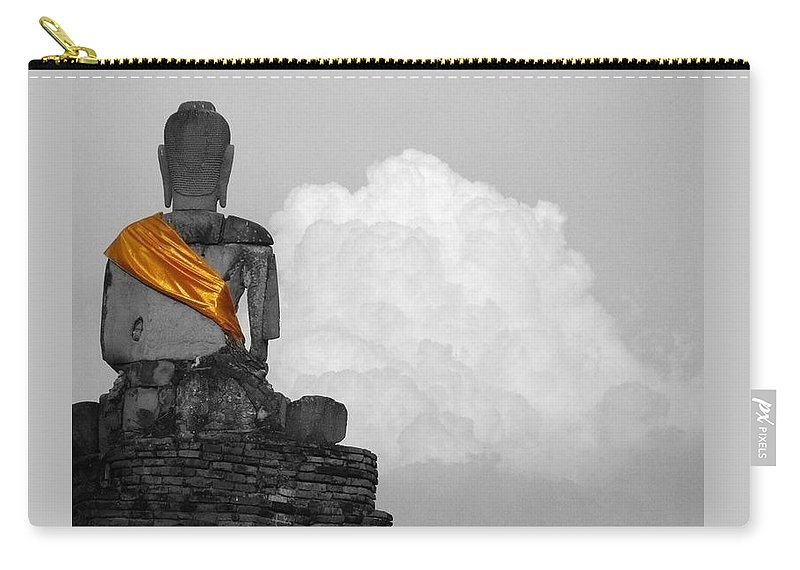 Inspirational Carry-all Pouch featuring the photograph Buddha Contemplation by Lyle Barker
