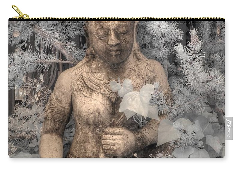 Buddha Carry-all Pouch featuring the photograph Buddha Nature by Jane Linders