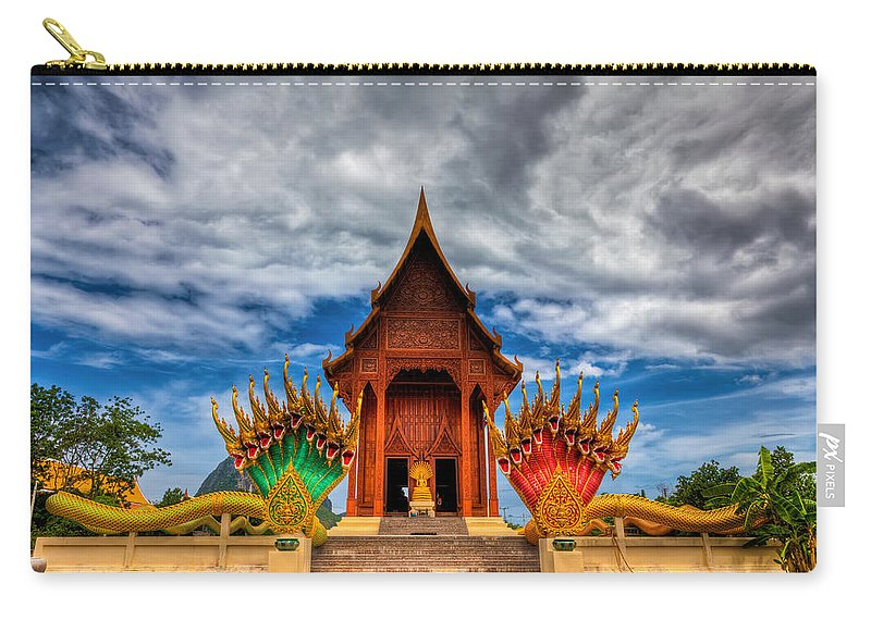 Shrine Carry-all Pouch featuring the photograph Buddha Temple by Adrian Evans