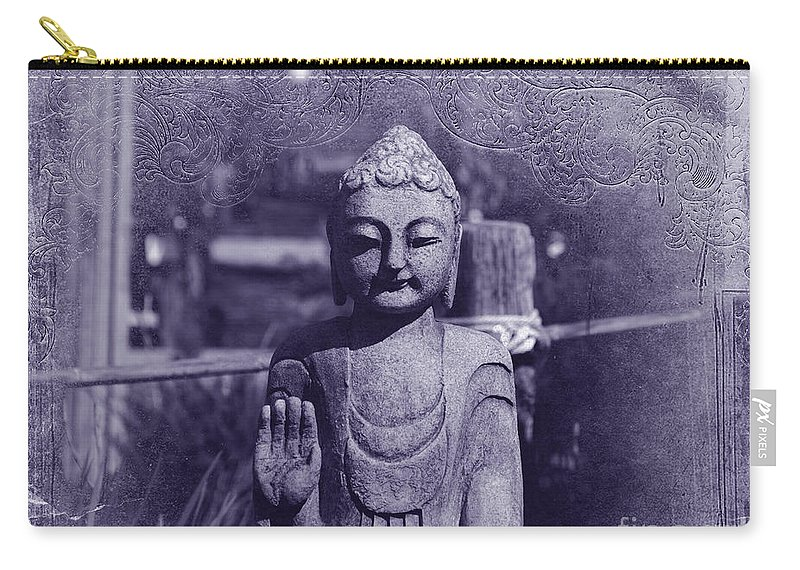 Buddha Carry-all Pouch featuring the photograph Buddhas Words by Susanne Van Hulst