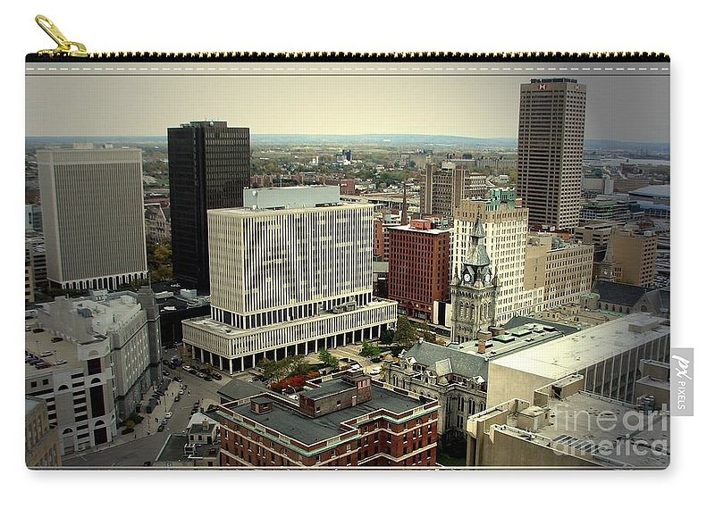 Buffalo Carry-all Pouch featuring the photograph Buffalo New York Aerial View by Rose Santuci-Sofranko