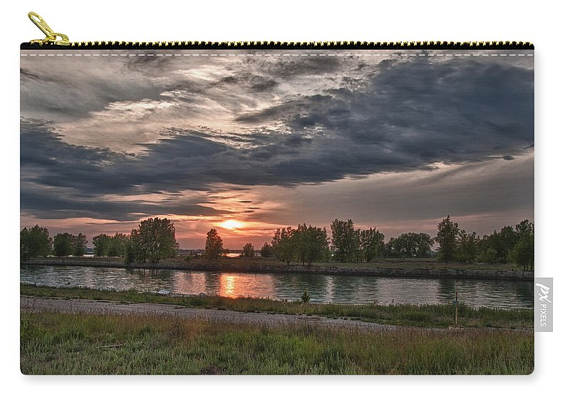 Cloud Carry-all Pouch featuring the photograph Buffalo Sunset 14390 by Guy Whiteley