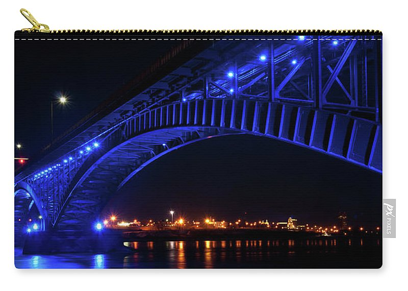 Bridges Carry-all Pouch featuring the photograph Buffalo Under The Bridge by Guy Whiteley
