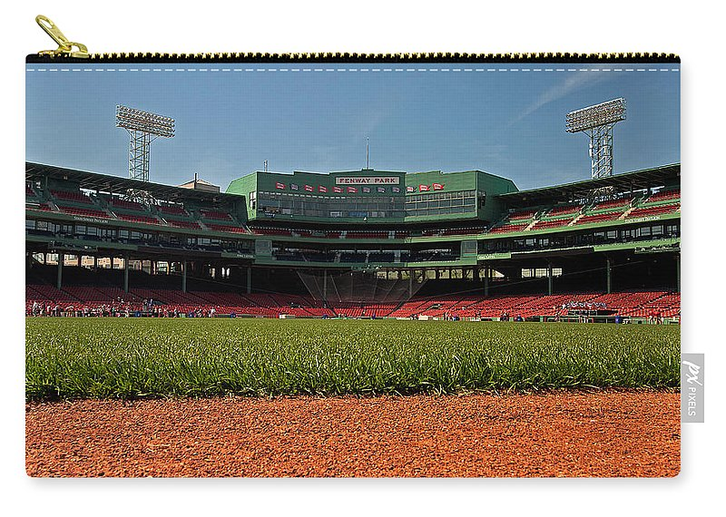 boston Red Sox Carry-all Pouch featuring the Bugs Eye View From Center Field by Paul Mangold