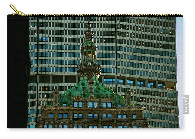 New York City Carry-all Pouch featuring the photograph Building Upon Building by Eric Tressler