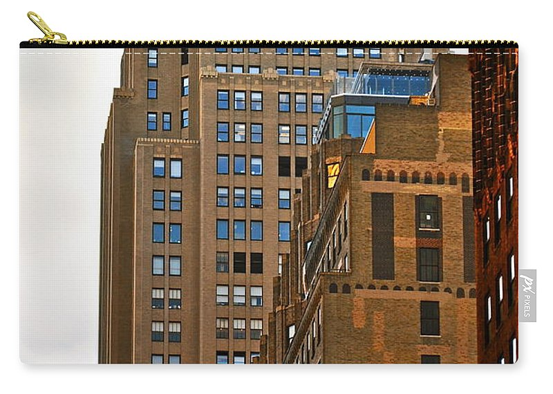 Buildings Carry-all Pouch featuring the photograph Buildings From The Taxi by Gwyn Newcombe