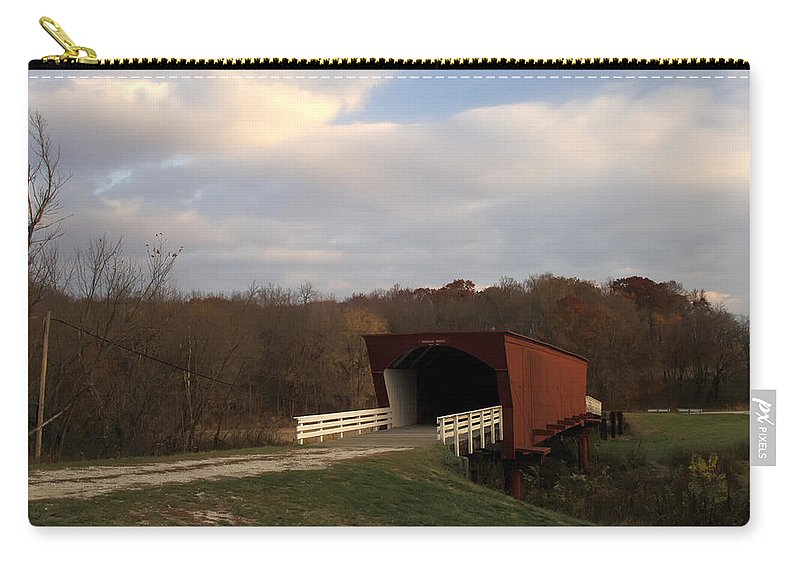Covered Bridges Of Iowa Madison County Carry-all Pouch featuring the photograph Built In 1883 Roseman Bridge by Randall Branham