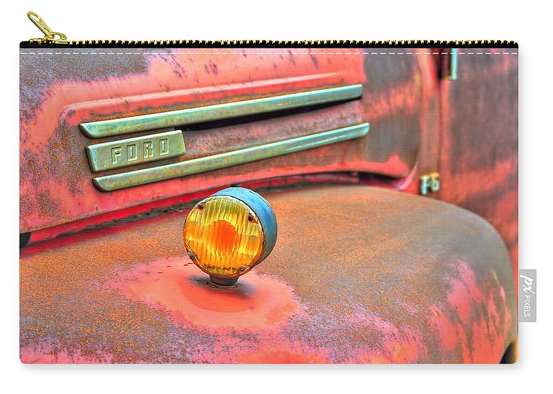 Carry-all Pouch featuring the photograph Built Like A Rock Series 02 by Michael Frank Jr