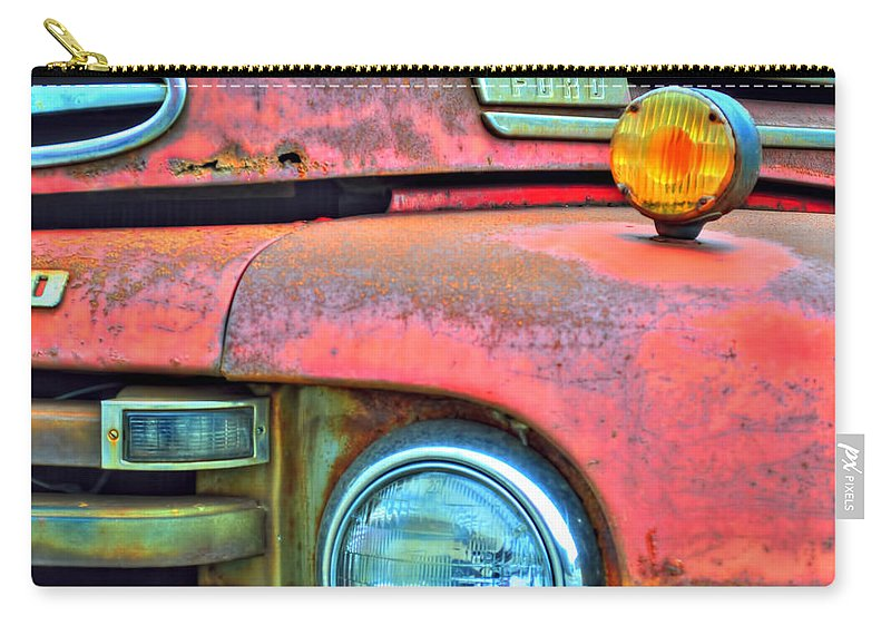 Carry-all Pouch featuring the photograph Built Like A Rock Series 04 by Michael Frank Jr
