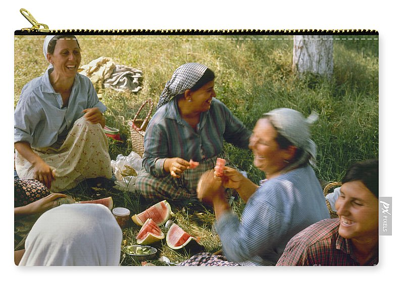 1970 Carry-all Pouch featuring the photograph Bulgaria: Peasants by Granger