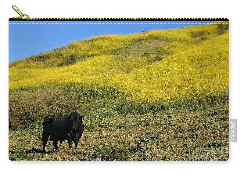 Agriculture Carry-all Pouch featuring the photograph Bull by Henrik Lehnerer