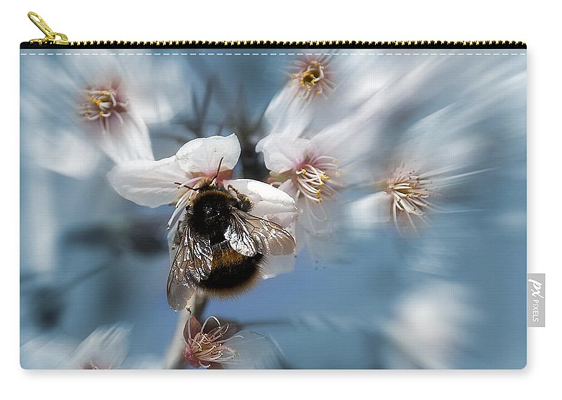 Bee Carry-all Pouch featuring the photograph Bumble Bee by Svetlana Sewell