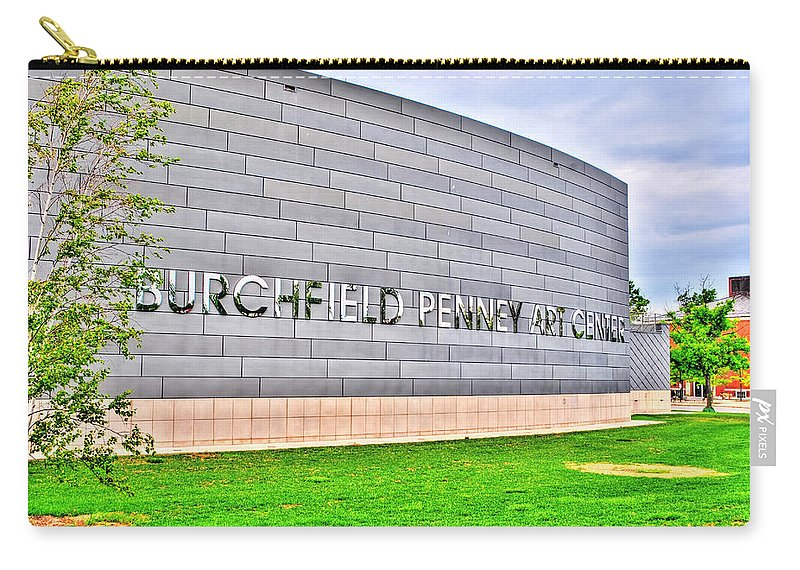 Carry-all Pouch featuring the photograph Burchfield Penny Art Center by Michael Frank Jr