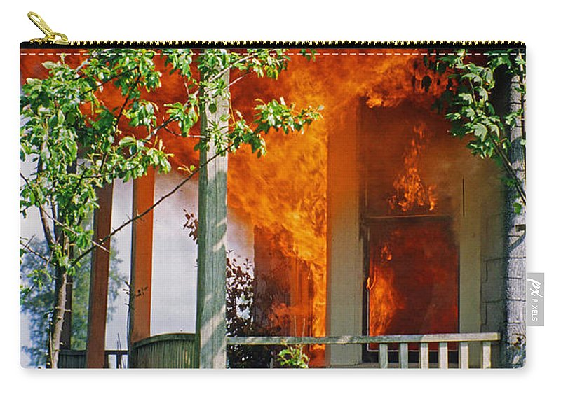 Fire Carry-all Pouch featuring the photograph Burning House by Randy Harris