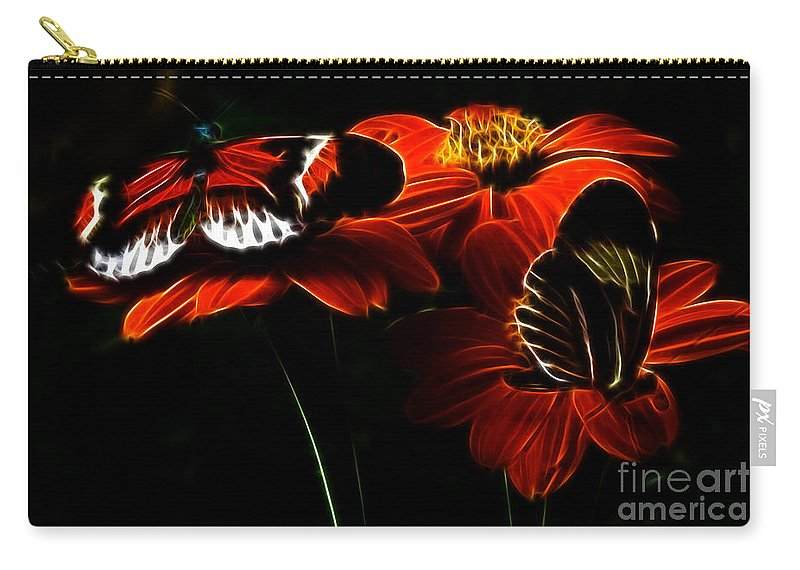 Butterfly Carry-all Pouch featuring the photograph Butterfly Duet by Darleen Stry
