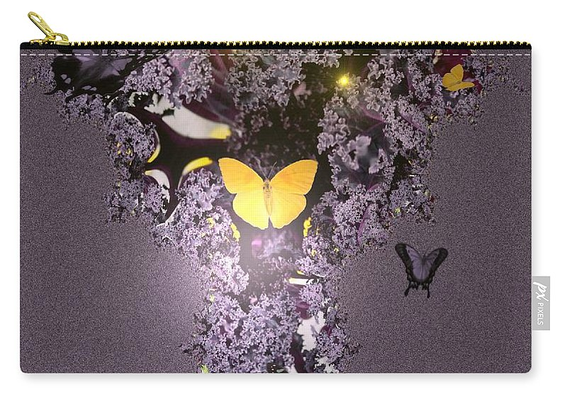 Butterflies Carry-all Pouch featuring the digital art Butterfly Paradise by Maria Urso