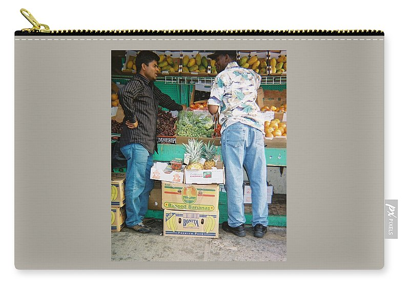 Photograph Carry-all Pouch featuring the photograph Buying Fruit by Natasha Harsh